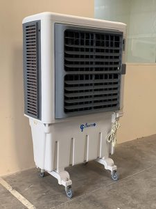 Climate+ evaporative air cooler at a warehouse in Dubai